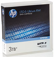 LTO-5 Ultrium Data Cartridge HP 1.5 TB / 3.0 TB LTO Ultrium-5 Tape Part # C7975A