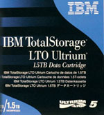 LTO-5 Ultrium Data Cartridge 1.5 TB / 3.0 TB LTO Ultrium-5 IBM Tape Part # 46X1290
