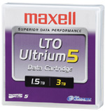 LTO-5 Ultrium Data Cartridge 1.5 TB / 3.0 TB LTO Ultrium-5 Maxell Tape Part # 229323